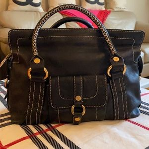 Celine black leather Boogie bag made Italy vintage